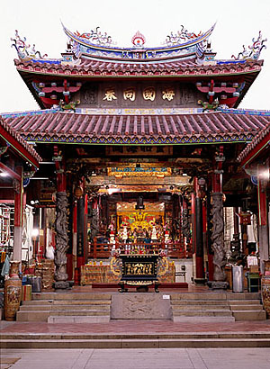the main hall for worshipping Matsu